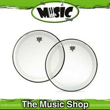 """New Remo 18"""" Powerstroke 4 Clear Bass Drum Skin with Falam Patch - P4-1318-C2"""