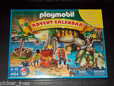 New PLAYMOBIL Christmas 4164 Pirates Treasure Cove ADVENT CALENDAR 66Pc Playset