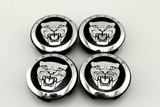 4x Jaguar Alloy Wheel Centre Caps XF XJ XJS XK S-TYPE X-TYPE 59mm Hub Cover