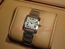Cartier Tank Francaise Medium Ladies, Silver  Dial - Steel, Ref # W51011Q3