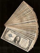 """(50) 1928 & 1934 $1 ONE DOLLAR US SILVER CERTIFICATE """"FUNNYBACK"""" NOTES VG-F"""