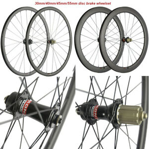700C Disc Brake Carbon Wheelset 30mm/40mm/45mm/55mm Disc Brake Road Bike Wheels