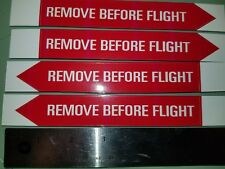 4x stickers, decal, aviation, aircraft, airport, pilot, Remove Before Flight