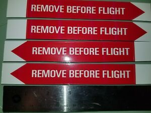 4x stickers, decal, aviation, aircraft, airport pilot Remove Before Flight