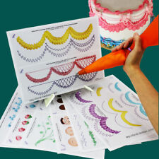 Cake Icing Piping Practice Drawing Board Template Paste Fondant Decorating