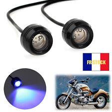 2x Feux diurnes à LED pour moto feux de brouillard feu de position pour scooter