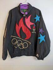 Vintage 1996 Starter Atlanta Olympic Games Stars Windbreaker Jacket Size L