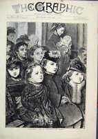 Original Old Antique Print Children Innocents Day 1872 Westminster Abbey Sketch