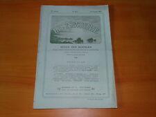 *** La Nature n° 1916 (12/02/1910) - Caugno de los Goffios / Gaz d'éclairage