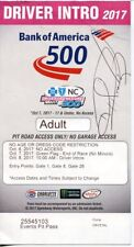 Ron Hornaday Jr. Nascar HOF Signed Autograph RARE Bank Of America 500 Ticket