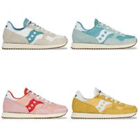 Saucony Originals - Saucony DXN Vintage Trainers - Yellow, Pink, White, Aqua
