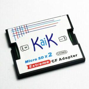 2 Slot MicroSDXC TF Card to CompactFlash CF Card Type I Adapter