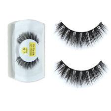 100%Real Mink Natural Thick False Fake Eyelashes Eye Lashes Makeup Extension