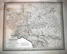 Poland, Kingdom of Poland, large copper engraved map by L.Vivien, 1824