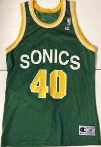 Vintage Shawn Kemp Seattle Supersonics NBA Champion Jersey Sonics 90s Size 44