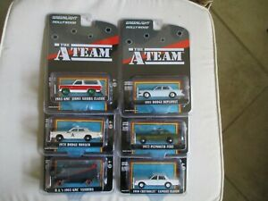 Miniatures 1/64 Or 3 Inches Greenlight Bundle Of 6 a Team E Team