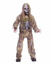 Skeleton 3-D Rotting Zombie Boy's Halloween Costume 12-14 Large #R76