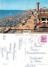 Jesolo - Spiaggia CON CARTELLO COCA-COLA ANIMATA VIAGGIATA AUSTRIA (A-L 191)