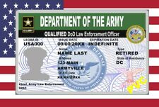 USA ID COLLECTOR CARDS <<ARMY>>LAW ENFORCEMENT OFFICER