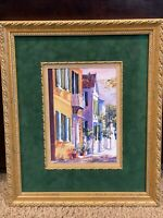 The Charleston ROW House by Victoria Platt Ellis 17X14 Beautiful Framed & Signed