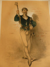 LITHOGRAPHIE FRAGONARD 1840 / LE ROI DES RIBAUDS  XVIe