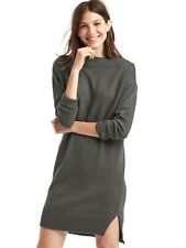 NWT Gap Cozy Rib-trim Sweater Dress, Charcoal Heather  SIZE ST S T  #358734 E118