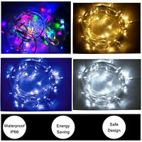 10m 100LED Christmas Tree Fairy String Waterproof Lights Lamp Xmas Decor Party