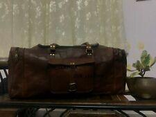 Leather Bag high grade Genuine Travel Duffle Vintage Weekend Luggage Overnight