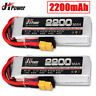 Jhpower 11.1V 2200mah 3S 25C XT60 Plug LiPo Battery For RC Car Boat Helicopter