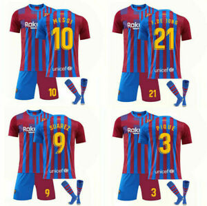 UK 2021-22 Home Kids Football Kits Blue Strips Shirt Soccer Jersey Training Suit