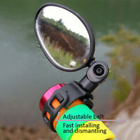 New Mini Rotate Flexible Bike Bicycle Cycling Rearview Handlebar Safety Mirror