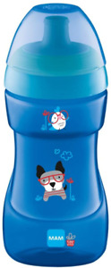 MAM Sports Cup, 330 ml, Trendy Non-Spill Cup for 12+ Months, Baby Cup Bottle May