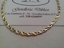 COLLANA  IN ORO GIALLO E BIANCO (oro 18 kt titolo 750%) necklace gold grams 6,6
