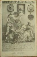 Pierrot Clown Seducing Woman 1905 Risque Postcard - 'Pierrot Seducteur'