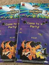 Digimon*2 x 20 Invitations Pack*Birthday Party