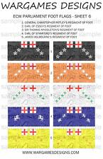 15mm ECW Parliament Foot Flags Sheet 6 - Pike & Shotte, FOG, DBR, WECW, Baroque
