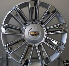 "22"" Cadillac Escalade Rims Chrome/Silver Platinum ESV EXT Wheels- ALL YRS ESCLD-"
