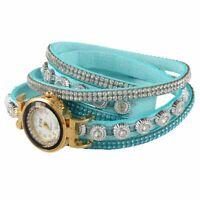 CCQ Montre-bracelet de strass de marque des femmes Montre a quartz pour dam T1C9