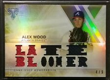 2015 Toops Triple Threads Relics ALEX WOOD #TTR-AWD2 Gold Certified Relic RC /9
