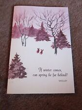 Vtg Greeting Card Blank Erica von Kager Brownie Rust Craft Shelley Quote unused