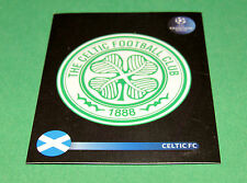 196 BADGE ECUSSON CELTIC GLASGOW UEFA PANINI FOOTBALL CHAMPIONS LEAGUE 2008 2009