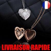 Collier Creux Coeur Pendentif Bijoux Mode Amour Love Photo Géométrique Ouverture