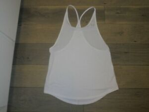 Under Armour white logo athletic activewear tank top shirt size M