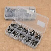 80X Fishing Rod Guides Top Tips Set Repair Kits DIY Steel Eye Rings +Plastic Box