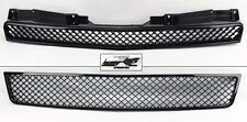 Chevy Tahoe Suburban Avalanche 07-14 Front Mesh Gloss Black Hood Bumper Grill