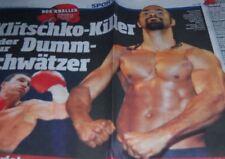 David Haye - Boxer 2011 - shirtless - Klitschko Bericht CLIPPINGS Presse #439