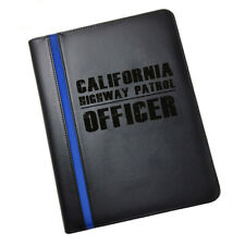 California State Highway Patrol TROOPER & Ranks Leatherette Padfolio & More