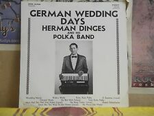 HERMAN DINGES, GERMAN WEDDING DAYS - PRIVATE PRESS LP B10-15-72