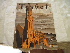 Travel Magazine Vintage World Tourism Antique December 1937