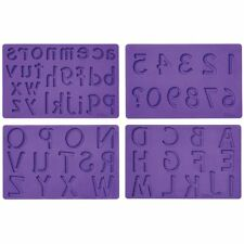 Wilton Fondant & Gum Paste Mold Letters & Numbers Alphabet Set Cake Accents